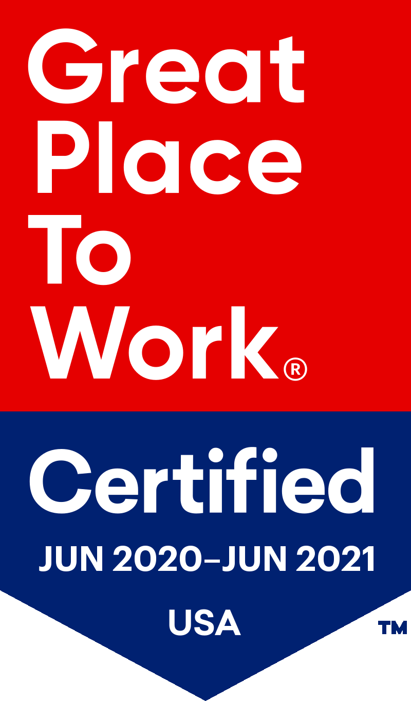 Great Place To Work Certified June 2018 June 2019 USA