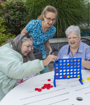 participants playing bingo