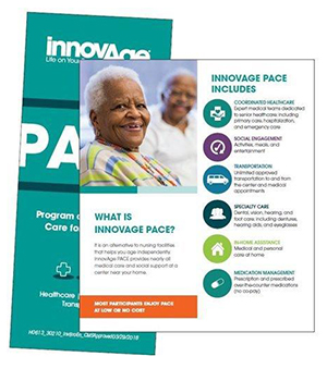 InnovAge PACE trifold brochure