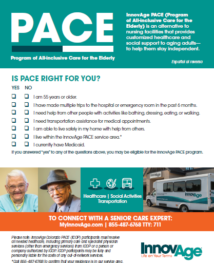 self-assessment InnovAge PACE brochure design