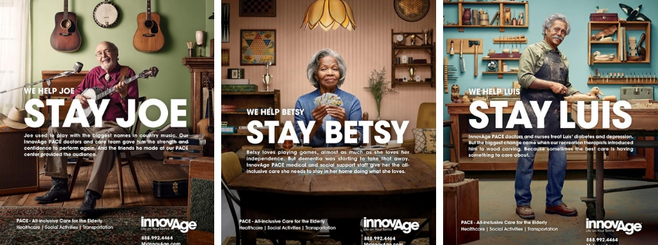 InnovAge campaign ads