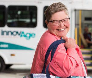 PACE participant boards InnovAge bus